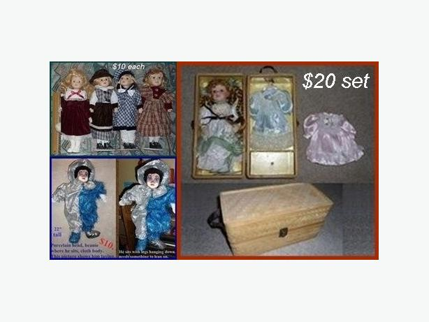 Porcelain Dolls ($10. - $20. each)