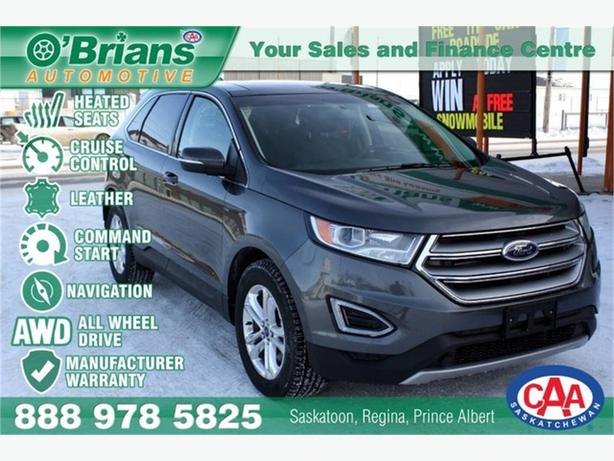 2017 Ford Edge SEL w/Mfg Warranty, Nav, AWD, Leather