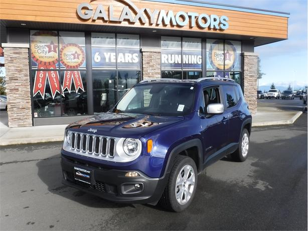 2016 Jeep RENEGADE LIMITED - HARD TOP, CHROME GRILLE, AUTO DIM RV MIRROR
