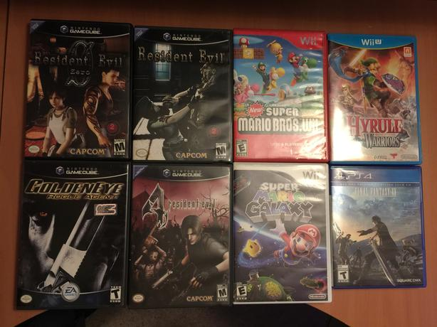 Games for Nintendo Gamecube, Wii, Wii U and Ps4
