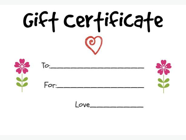 We now sell gift certificates