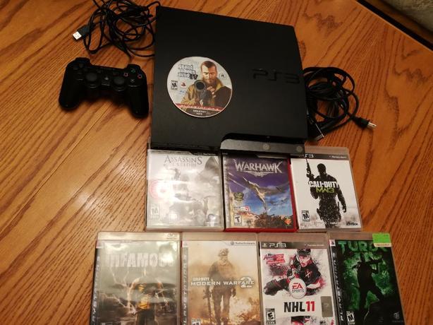 PS3 Slim 150gb & 11 games