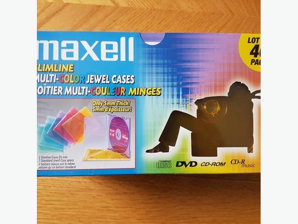 Maxwell slim multi color cd dvd cases 40 pack brand new sealed 3 of them