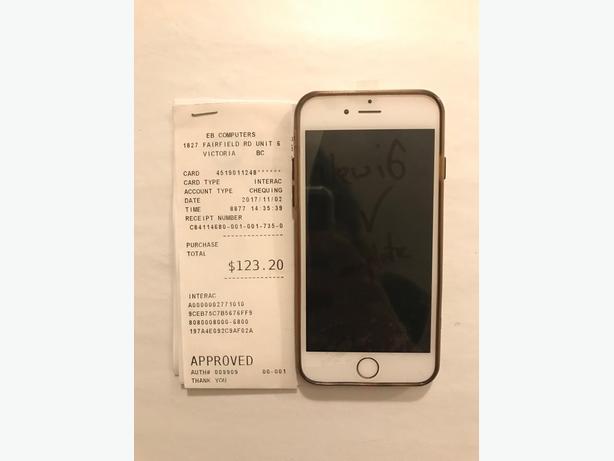 Iphone 6 128gb BRAND NEW SCREEN Unlocked