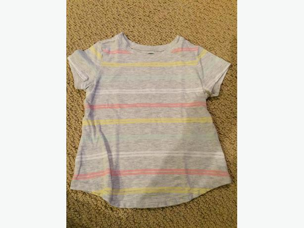 GIRLS OLD NAVY STRIPED SHORT SLEEVE T-SHIRT 3T