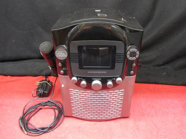The Singing Machine STVG-359 karaoke with color monitor and mic