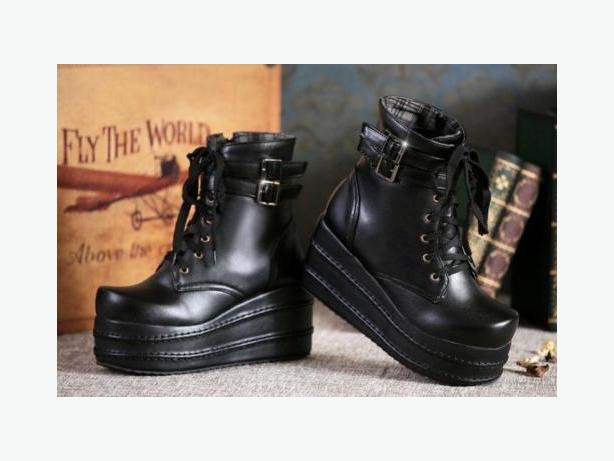 $45 Vegan leather platform ankle boots