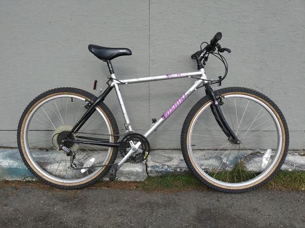 "Nishiki Rock Hound, 19"" frame, 26"" wheels, 21 speed"