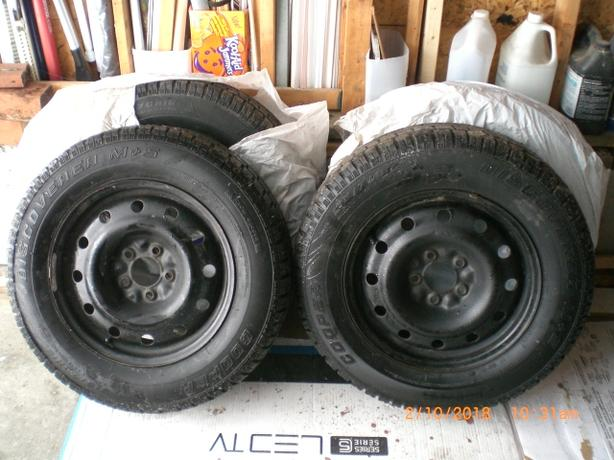 Winter Tires/Rims P215/70R16 For Sale