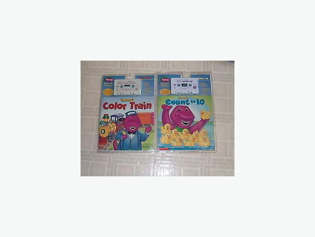 Barney's read along book and cassette-still