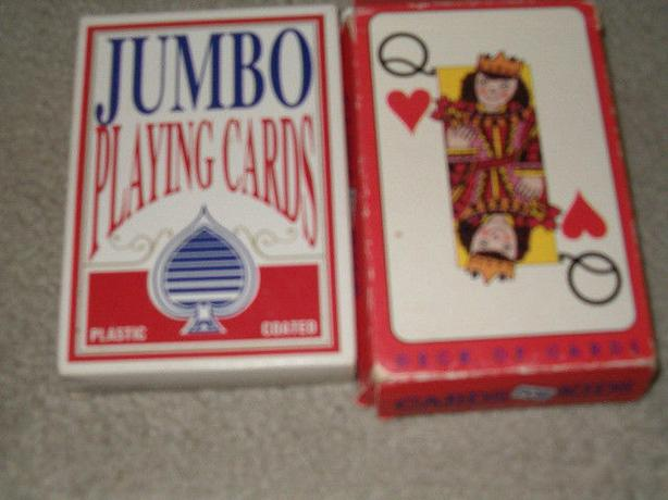playing cards- giant plastic cards