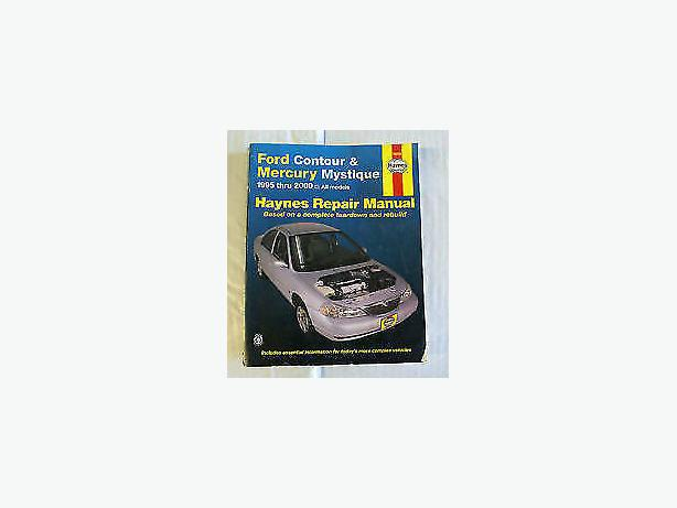 mystique ford car or contour, book  1995 -2000
