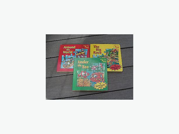 puzzle books read and play , five puzzles