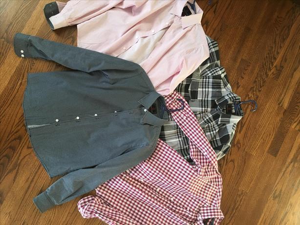 4 x BOYS SWISS CROSS DRESS SHIRTS - SIZE LARGE 14/16