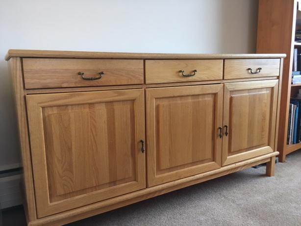 Solid oak ikea sideboard bureau in very good condition oak bay victoria