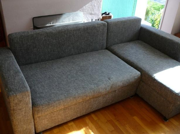 Sectional sleeper sofa couch w pull out bed victoria for Sofa bed 54 wide