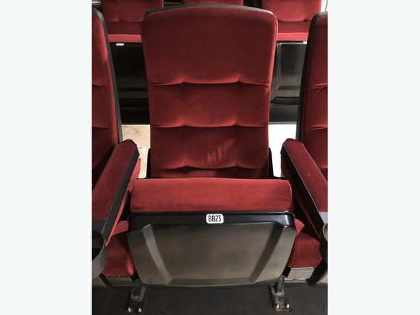 For Sale. Used Authentic movie theatre seats