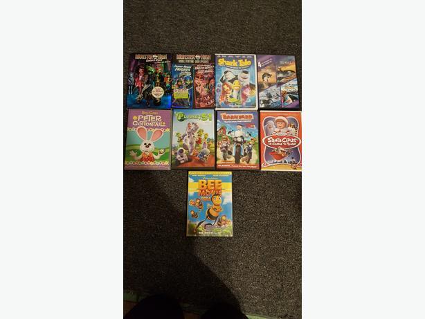 Asst Kids DVD's