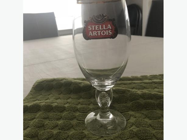 3 x STELLA BEER GLASSES / 12 OUNCE - $6 FOR 3 GLASSES