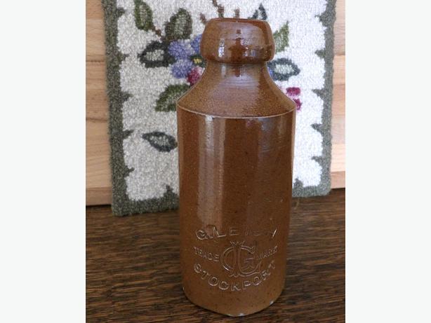 Antique Ginger Beer Stoneware Crock / Bottle G. Leigh