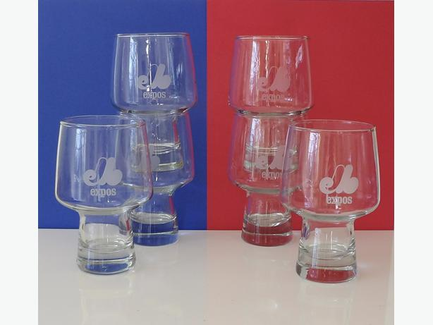 Set of 6 Vintage Montreal EXPOS Beer Glasses