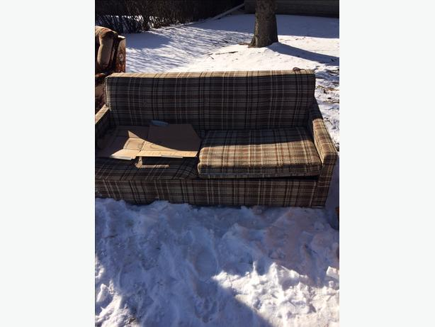 FREE:  sofa/hide- come pick up and it's yours