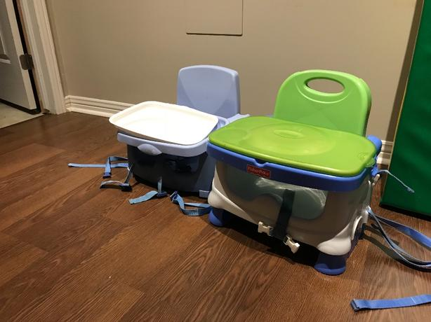 Booster seats with trays