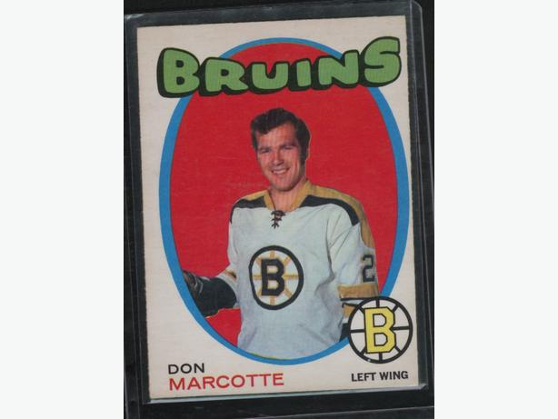 71-72 O Pee Chee #176 Don Marcotte Boston Bruins