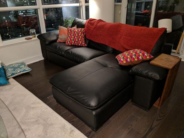 Leather Ikea Kivic Sectional for Sale!