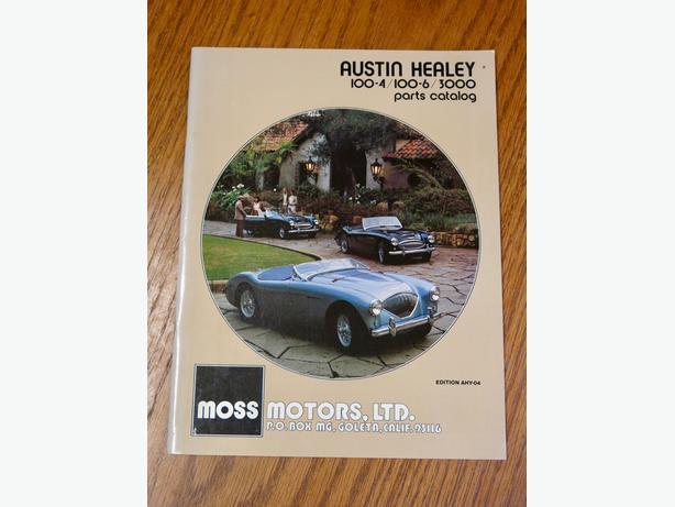 Austin Healey 100-4/100-6/3000 parts catalog Outside