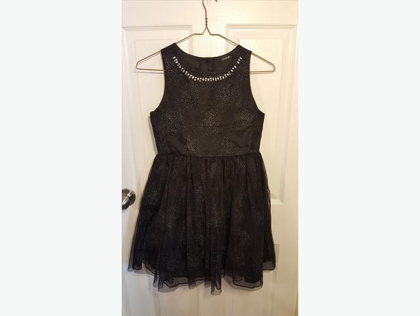 Girls black sparkle dress
