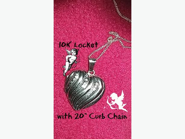 10K Locket with Chain