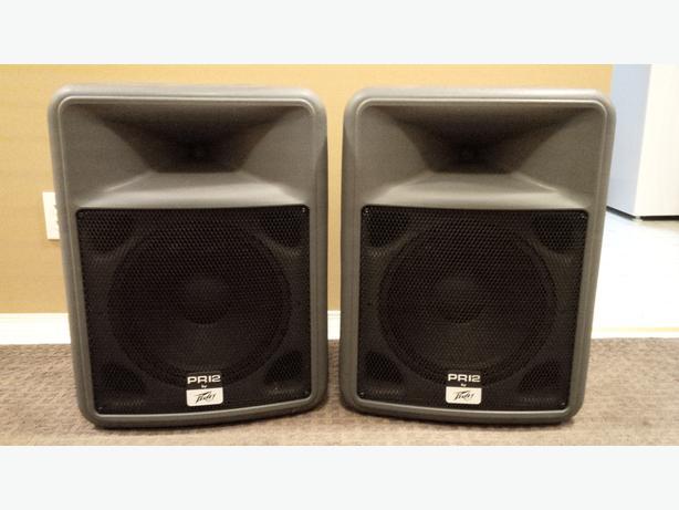 Two Peavey PR12 Speakers