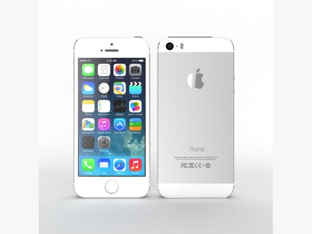 Apple iPhone 5S, 32GB, Silver, Bell/Virgin Mobile (8074)