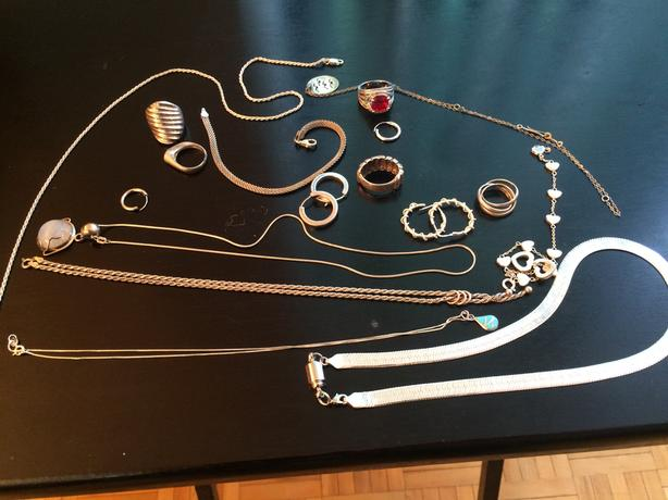 Assorted silver solid jewellery 925