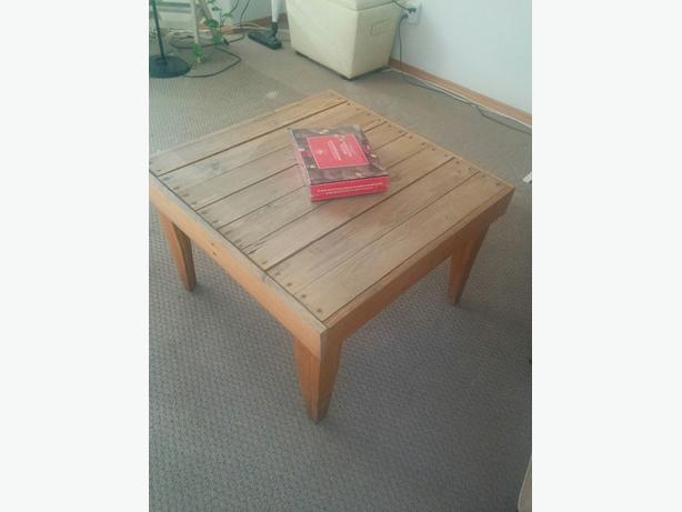 square solid  wooden table
