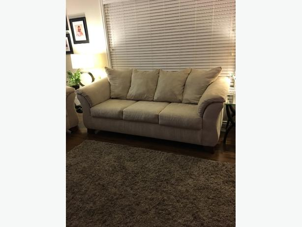 Microsuede Sofa and Loveseat