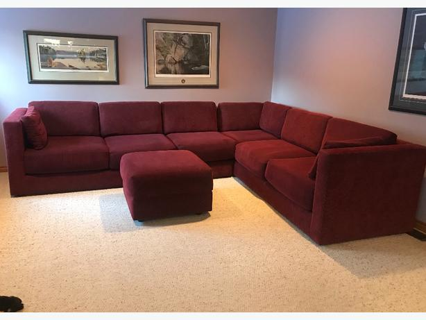 2-piece sectional sofa with ottoman