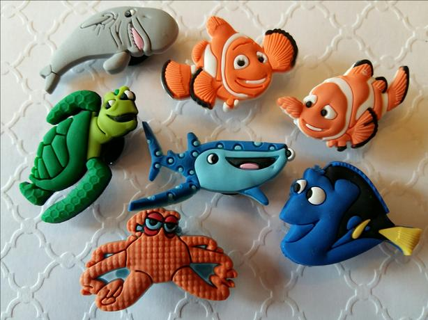 Finding Dory Shoe Charms & Magnets