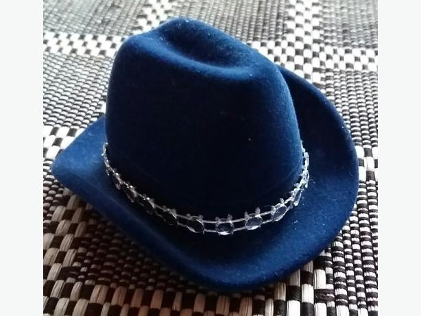 Navy Cowboy Hat Jewelry Gift Box