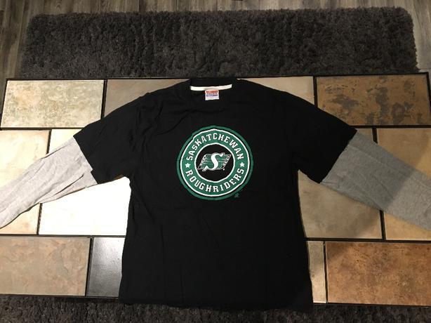 'My Favourite Team' Women's Long Sleeved Saskatchewan Roughrider Shirt For Sale