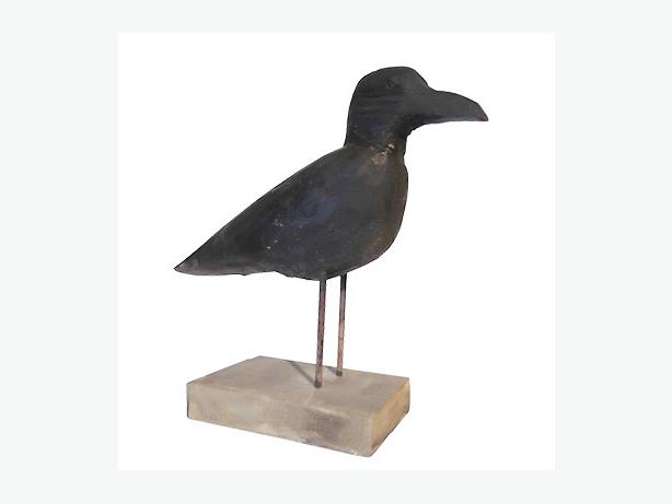 1940's Carved Crow Decoy