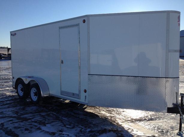 2018 CJay 7x14 Enclosed (Barn Doors) White - 4014