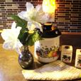 Vintage Cookie/Canister, Vintage Spice Container & Flower