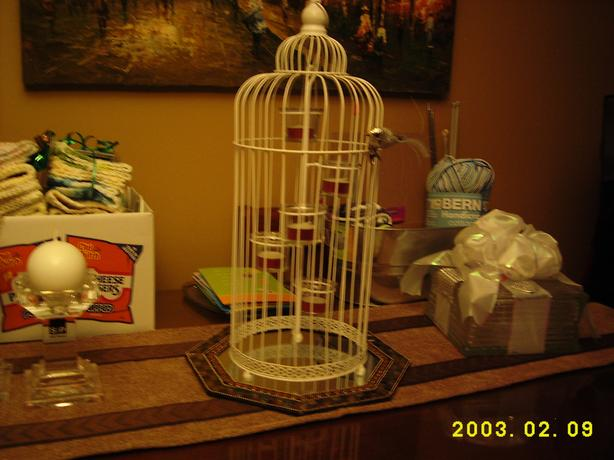 Bird Cage T-Lite Candle Holder...