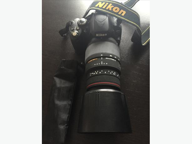 Nikon D40 SLR Camera with Sigma APO 70-300mm lens