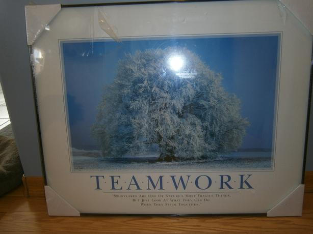 Framed Teamwork Poster