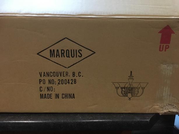 Marquis 6 light Chandelier