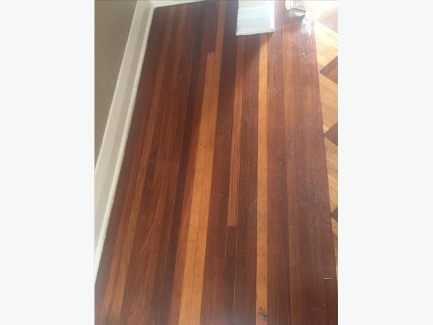 Mahogany flooring approx 500 sq ft