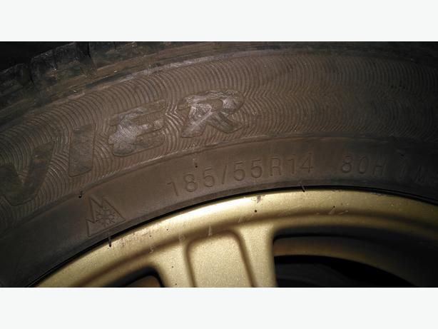 Four Kumho 185 55 R14 tires